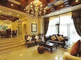 客厅吊顶窗帘设计方案