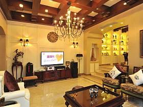 客厅吊顶电视背景墙设计方案