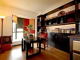 中式中式风格书房交换空间装修图
