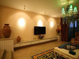 地中海客厅电视柜设计案例