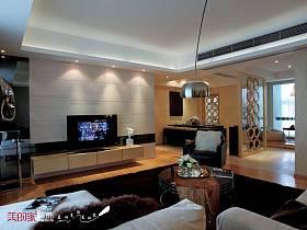 后现代客厅电视背景墙效果图