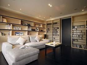 现代书房效果图