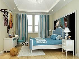 新古典卧室别墅吊顶效果图
