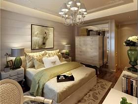 简约卧室单身公寓吊顶装修效果展示