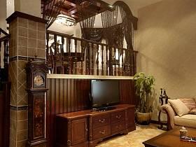 美式美式风格别墅电视背景墙电视墙设计案例
