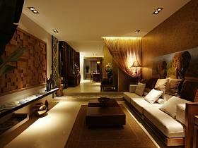 东南亚东南亚风格客厅装修图