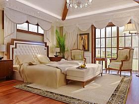 古典卧室别墅吊顶设计案例展示