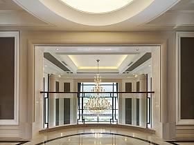 现代别墅走廊双拼别墅复式楼吊顶案例展示