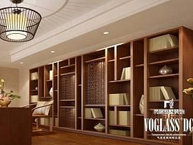 中式新中式书房吊顶效果图