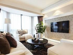 简约简约风格客厅电视背景墙案例展示