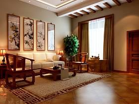 中式客厅沙发设计方案