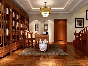 中式书房吊顶设计案例展示