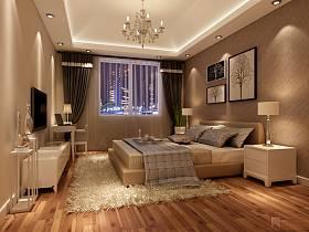 现代简约卧室复式楼效果图