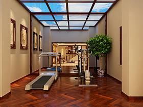 中式健身房设计案例展示