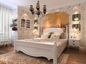 田园田园风格卧室单身公寓吊顶设计案例展示