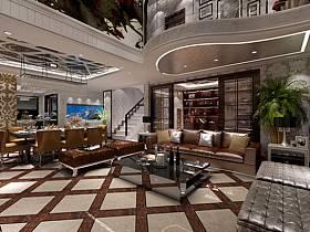 新古典古典客厅跃层设计案例