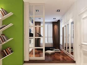 简约创意书房书架创意书架设计案例展示