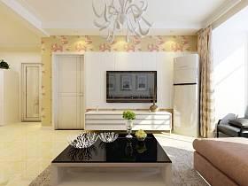 现代客厅电视柜电视背景墙装修效果展示