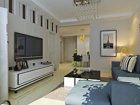 现代客厅电视柜电视背景墙案例展示
