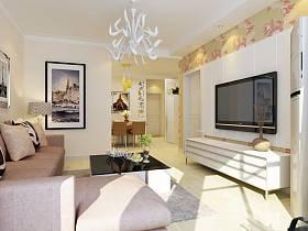 现代客厅电视柜电视背景墙设计案例展示