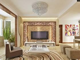 现代客厅吊顶电视柜电视背景墙图片