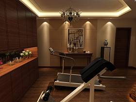 中式中式风格健身房装修案例