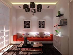 地中海地中海风格背景墙沙发效果图