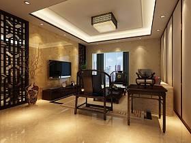 中式客厅沙发茶几装修案例