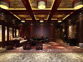 中式客厅大厅装修图