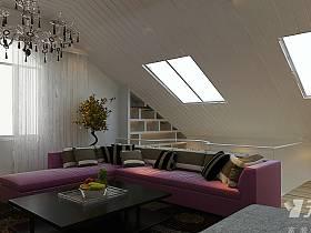 简约客厅复式楼窗帘设计案例展示
