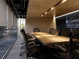 现代会议室效果图