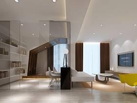 简约客厅单身公寓图片