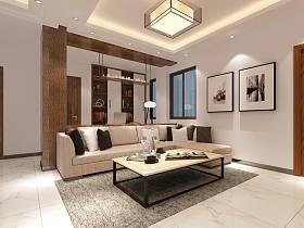 现代现代风格客厅单身公寓设计案例展示