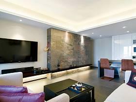 现代简约客厅电视柜电视背景墙设计案例