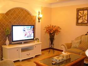 客厅电视柜电视背景墙装修图