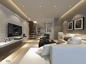 客厅复式楼电视背景墙设计案例展示