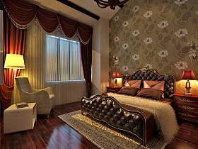中式中式风格卧室复式楼图片