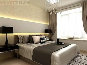 简约卧室吊顶窗帘设计方案