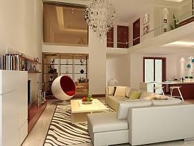 现代现代风格客厅别墅设计案例展示