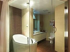 现代时尚卫生间卫浴玻璃门图片