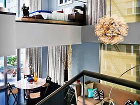 现代客厅卧室阳台休闲区跃层设计案例