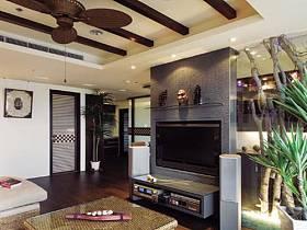 豪华客厅吊顶沙发茶几灯具装修效果展示