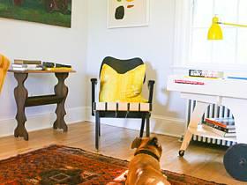 客厅书房沙发台灯效果图