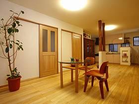 清新自然温馨时尚客厅植物餐桌椅子椅效果图