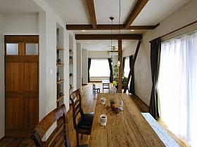 田园清新自然窗帘植物餐桌桌子马赛克布艺窗帘设计案例展示