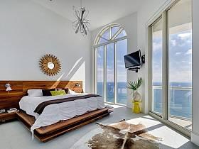 清新自然卧室床架装修案例