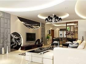 中式现代客厅背景墙电视背景墙设计案例