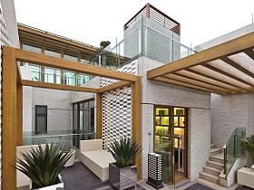 现代简约中式外景别墅效果图