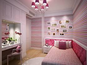 现代简约田园混搭卧室儿童房效果图