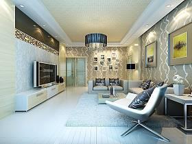 现代简约简欧客厅设计案例展示